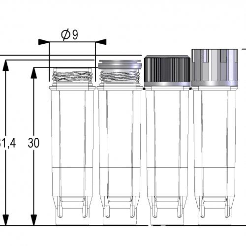 0.75ml Screw Cap Tube U-bottom