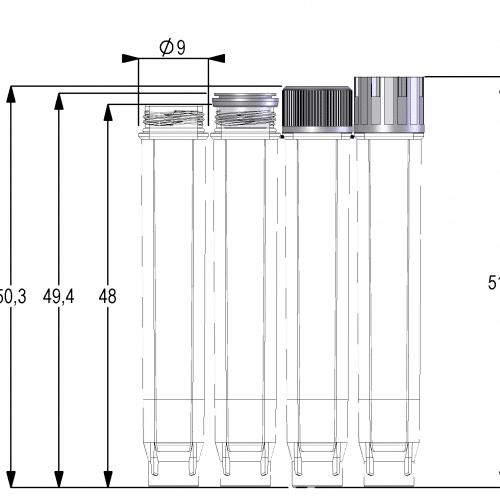 1.40ml Screw Cap Tube U-bottom