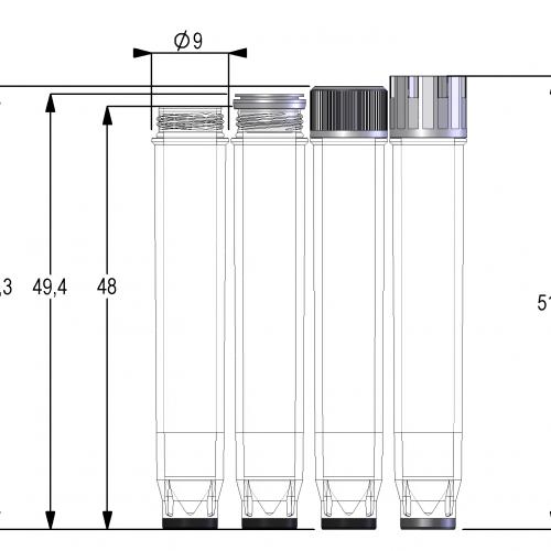 1.40ml Screw Cap Tube V-bottom