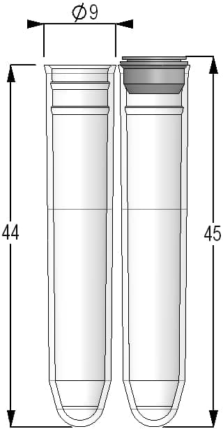 1.40ml Tubes Round Bottom