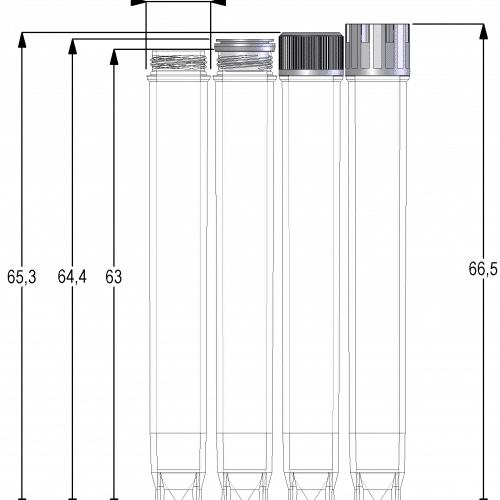 2.00ml tube TRE V-bottom dim