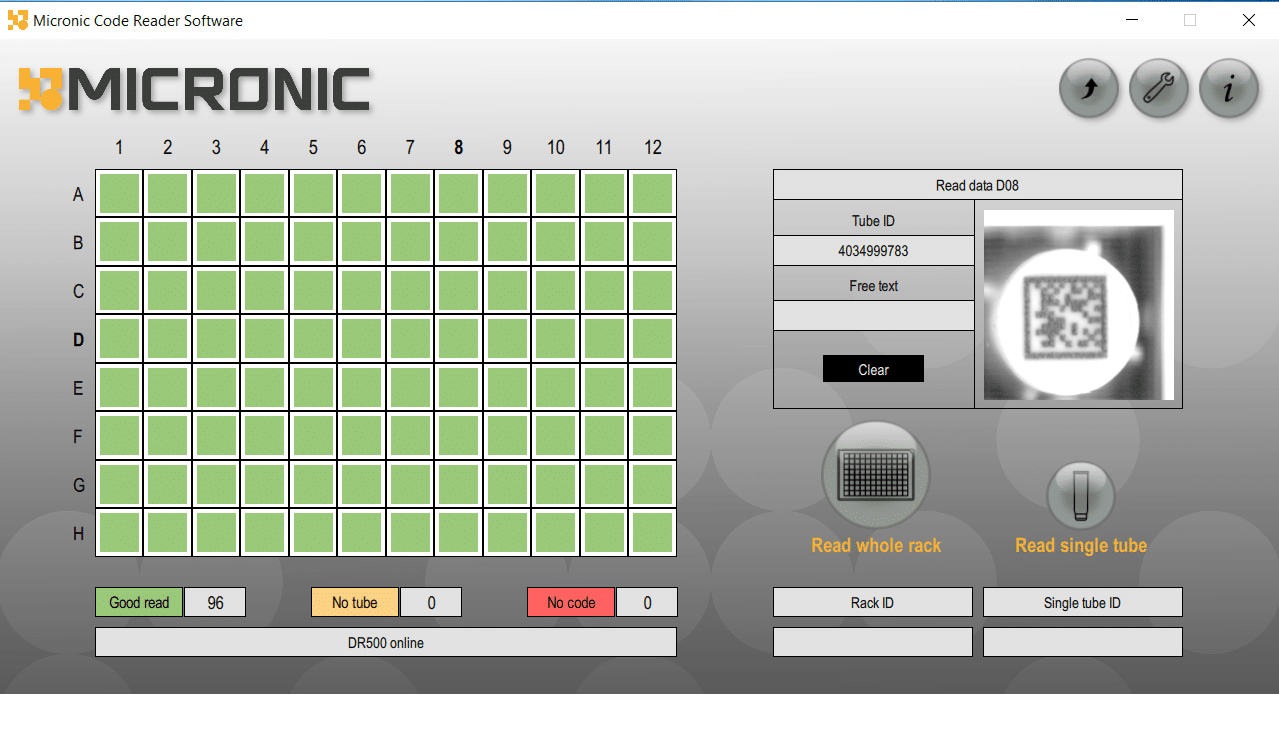Micronic Code Reading Software