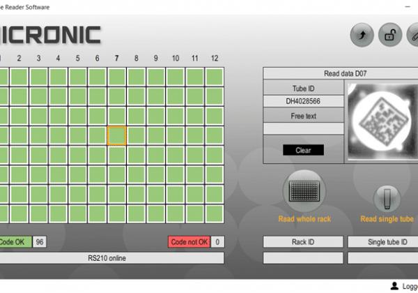 Micronic Code Reader Software V4.0.0 screenshot