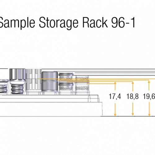 0.30ml Tube in Rack Dimensions
