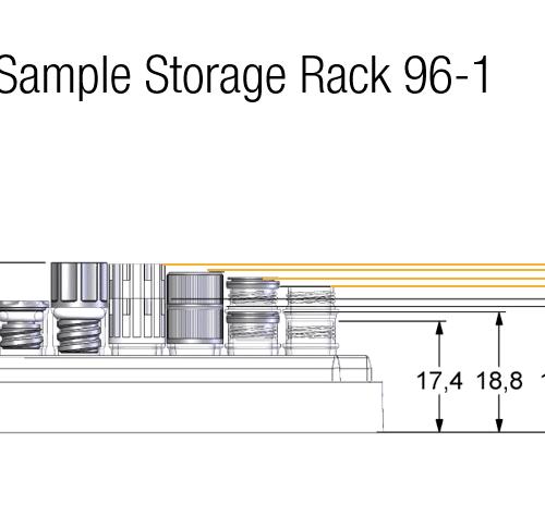 0.40ml Tube in Rack Dimensions