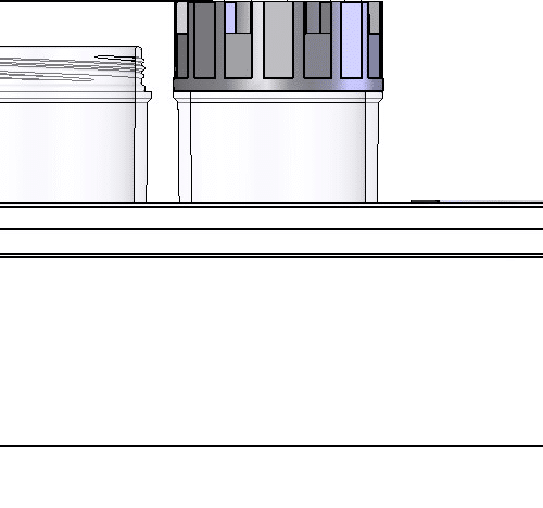 Dimensional drawing for 3.50ml tube in rack