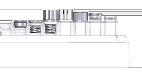 0.75ml Tubes in Rack Dim