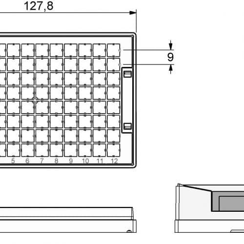 Micronic 96-Q1 Rack dimensions