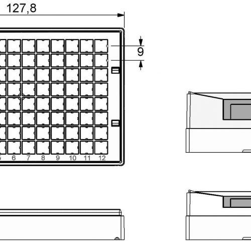 Micronic 96-2 Rack dimensions