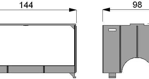 Modular Vertical Freezer Rack dimensions