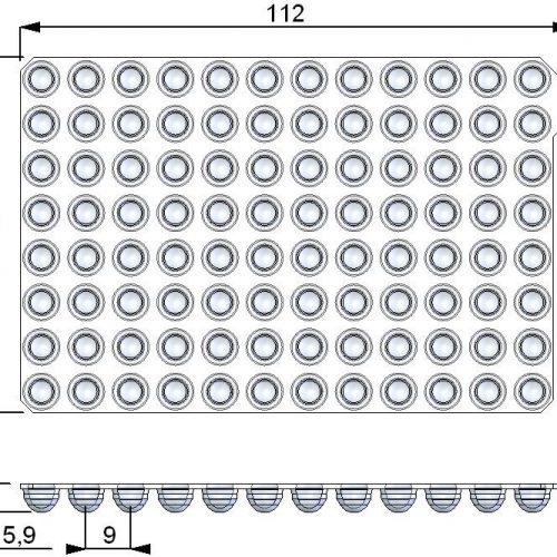 EVA Push Caps dimensions