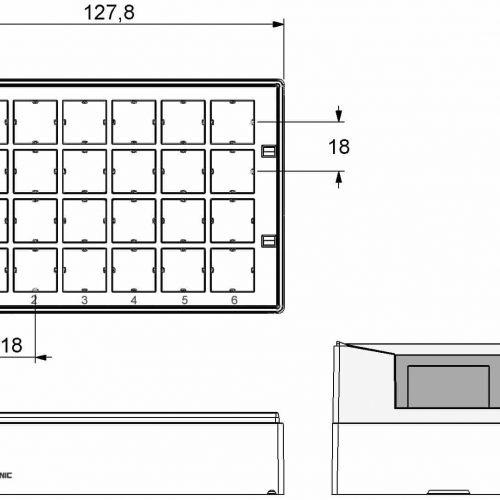 Micronic 24-4 Rack dimensions