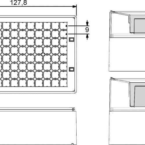 Micronic 96-5 Rack dimensions