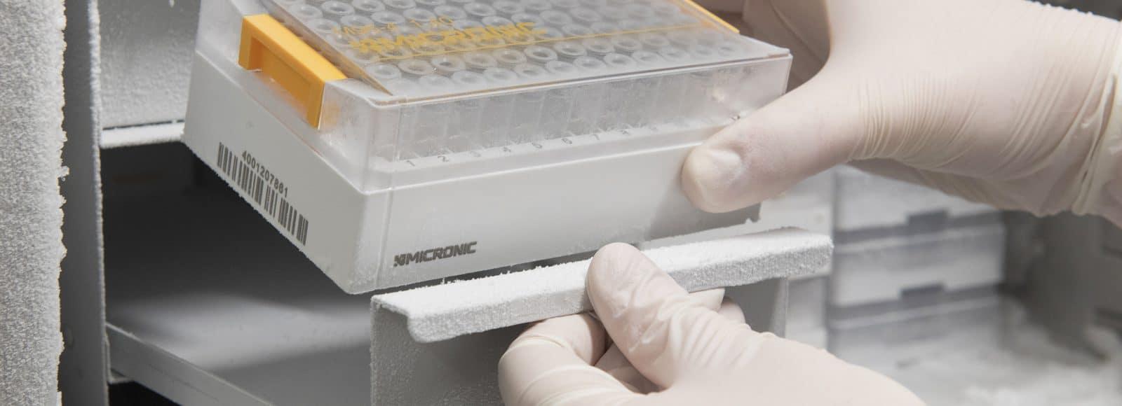 Micronic in freezer