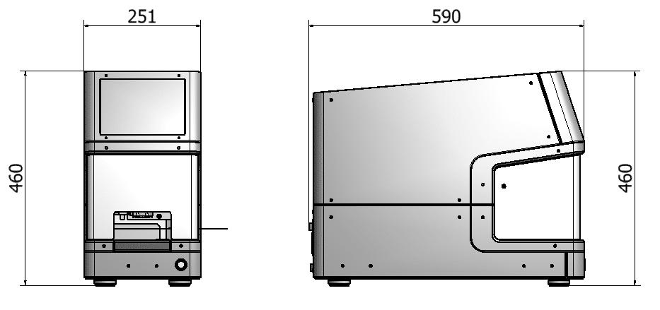 Screw Cap Recapper CS700 dimensions