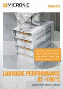 Tech note front labware performance at -196 degrees celcius