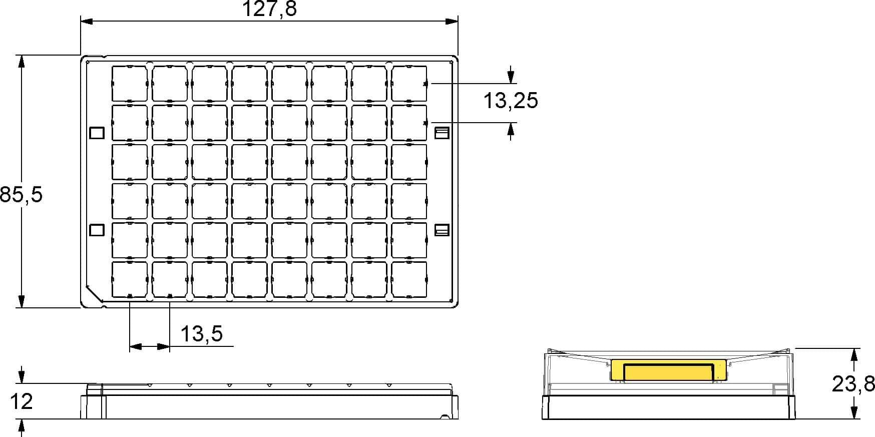 Micronic 48-1 Rack dimensions