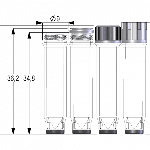 0.80ml Screw Cap Tube V-bottom
