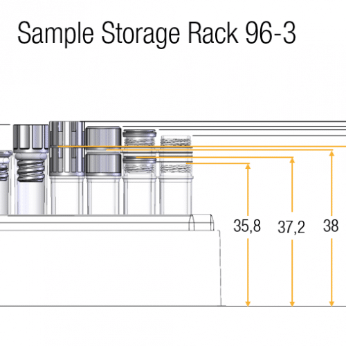 0.80ml Tube in Rack Dimensions