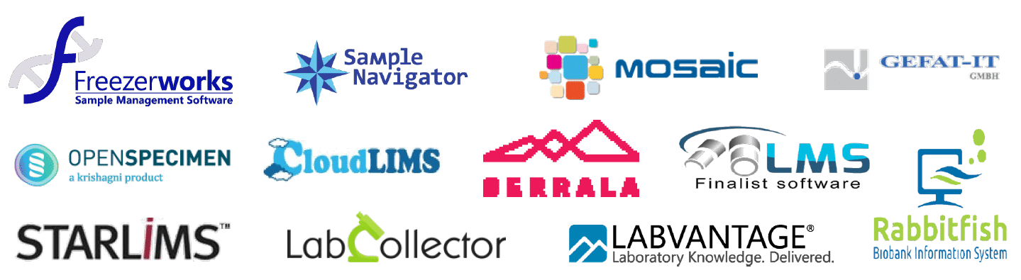 Selection of sample management software providers compatible with micronic