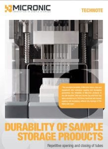 Tech note front durability of sample storage products