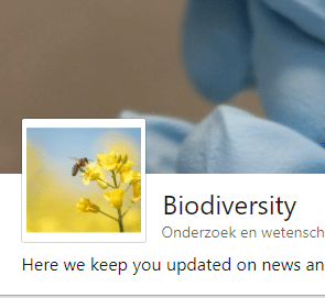 Showcase page Biodiversity Linkedin