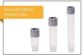 Blank tubes with external thread