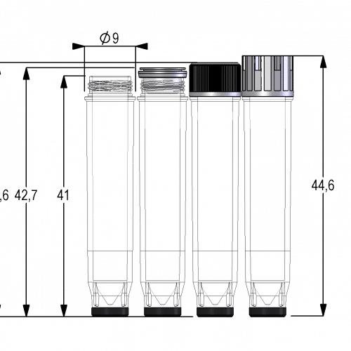 Dimensional Drawing 1.10ml TRE