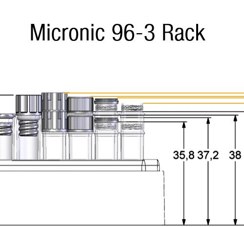 1.10ml External Thread Tube in Rack Dimensions
